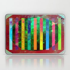 Galactic Stripes - Abstract, geometric, space themed artwork Laptop & iPad Skin