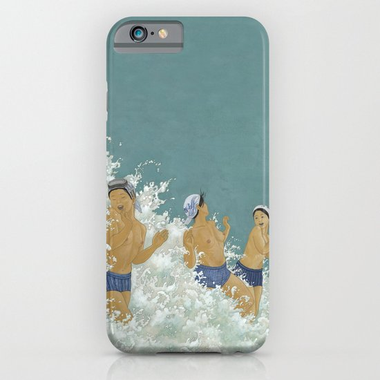 Three Ama Enveloped In A Crashing Wave iPhone & iPod Case