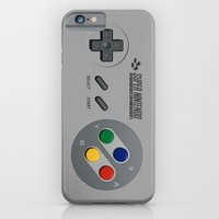iPhone Cases featuring Classic Nintendo Controller by aleha