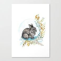 Rustic Rabbit Canvas Print