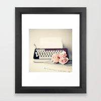 Romance Writing Framed Art Print