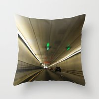 The Tunnel Throw Pillow
