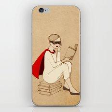 Superhero reader iPhone & iPod Skin