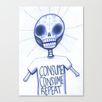 Consume, Consume Canvas Print
