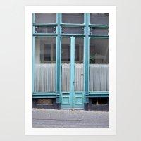 Blue door Art Print