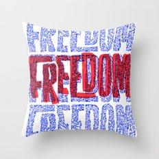 Faith & Freedom I Throw Pillow