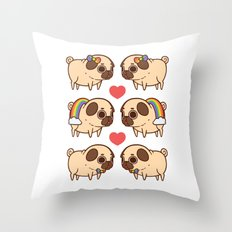 Puglie Pride Throw Pillow
