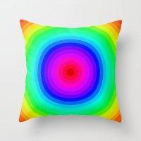 Rainbow Circle Throw Pillow