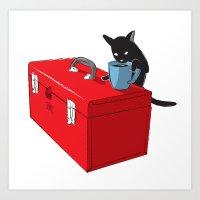 Chat Noir Beverage Tippe… Art Print