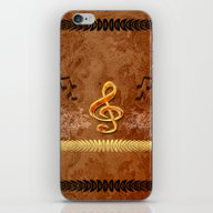 iPhone & iPod Skin featuring Music, Clef by Nicky2342