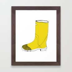 My favorite yellow boot Framed Art Print