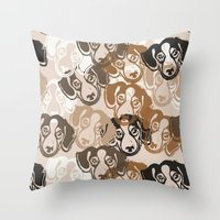 Beagles! Throw Pillow