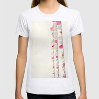 prayer flags no. 2 Womens Fitted Tee Ash Grey SMALL