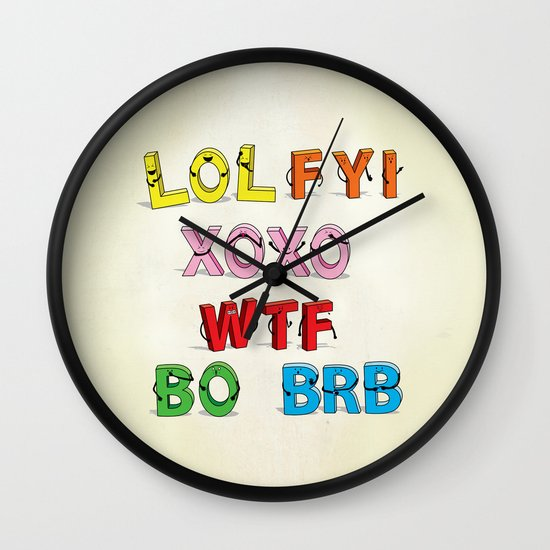 Some Internet Abreviations Wall Clock