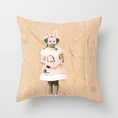 Imaginary Friends- Bunny Throw Pillow