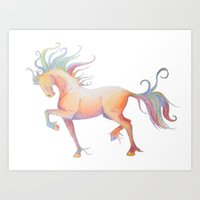 My Technicolor Pony Art Print