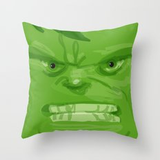 Post it portrait: The Hulk Throw Pillow