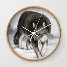 Arctic wolf Wall Clock