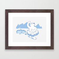 Ice Ballet Framed Art Print