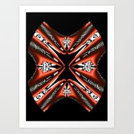 Black, White And Red Abs… Art Print
