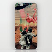 Pink Flamingos iPhone & iPod Skin