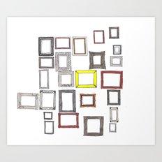 Art, Art Everywhere, but Not A Frame To Fill. Art Print