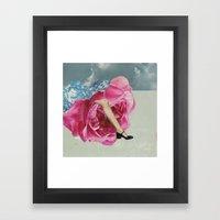 Rose Legs Framed Art Print