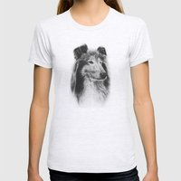 Rough Collie Dog Best Friend Lassie Womens Fitted Tee Ash Grey SMALL