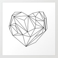 Heart Graphic (black On … Art Print