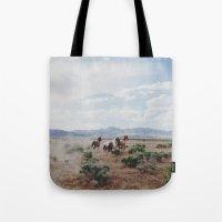 Running Horses Tote Bag
