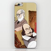 Freud analysing Shakespeare iPhone & iPod Skin