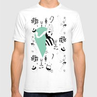 For The Sweet Tooth Mens Fitted Tee White SMALL