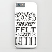iPhone & iPod Case featuring Love Never Felt So Good (Black and White) by Najmah Salam