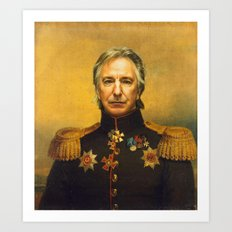 Alan Rickman - Replacefa… Art Print