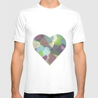 HEARTFUL Mens Fitted Tee White SMALL