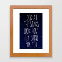 Look How They Shine For … Framed Art Print