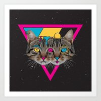 Our New Feline Overlords Art Print