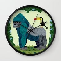 The Gorilla And The Touc… Wall Clock