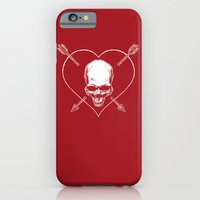 iPhone & iPod Case featuring Eros & Thanatos (Joli Rouge Red Flag) by Divine Mania