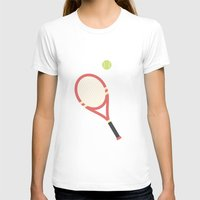#19 Tennis Womens Fitted Tee White SMALL