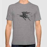 They Talk Mens Fitted Tee Athletic Grey SMALL