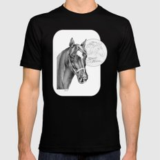 Barney the Hunter: Spirit of the Horse Mens Fitted Tee Black SMALL