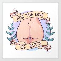 Butts 3 Art Print