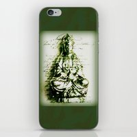 Antique Green Kwan Yin iPhone & iPod Skin