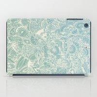 Detailed rectangle, light blue  iPad Case