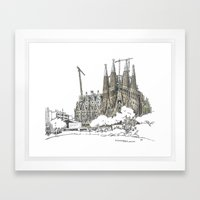 Sagrada Familia, Barcelona Framed Art Print