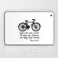 Life Is Like Riding A Bi… Laptop & iPad Skin
