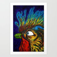 Rooster, Gnarley Art Print