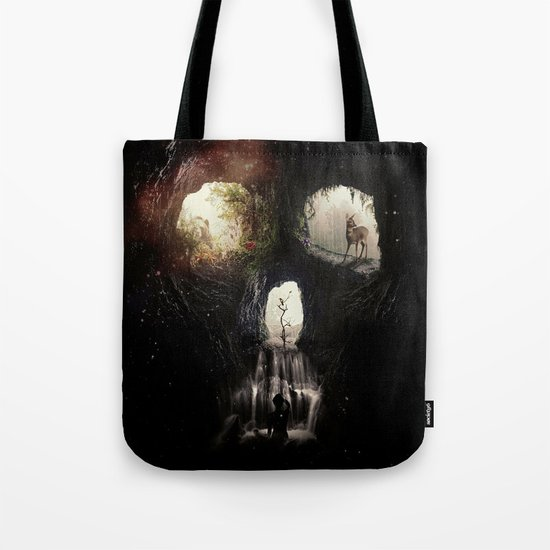 Cave Skull Tote Bag