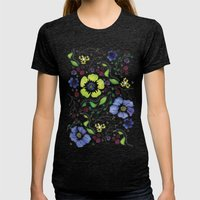 April Truly Womens Fitted Tee Tri-Black SMALL
